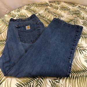 Carhartt women's denim relaxed fit 18
